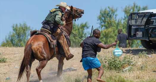 Homeland Security investigates border patrol's treatment of Haitian immigrants.